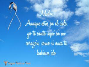 frases para una madre que esta en el cielo
