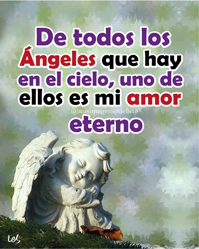 imagen de luto eres un angel