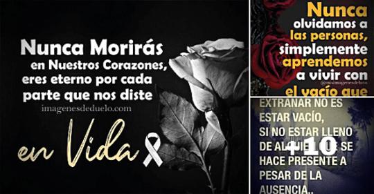 tarjetas de luto con frases